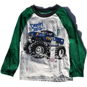 ♛5/$25♛ NWT Garanimals Monster Truck Shirt Raglan